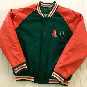 Steve & Barry's Jackets & Coats - Steve & Barry's Varsity Jacket University of Miami